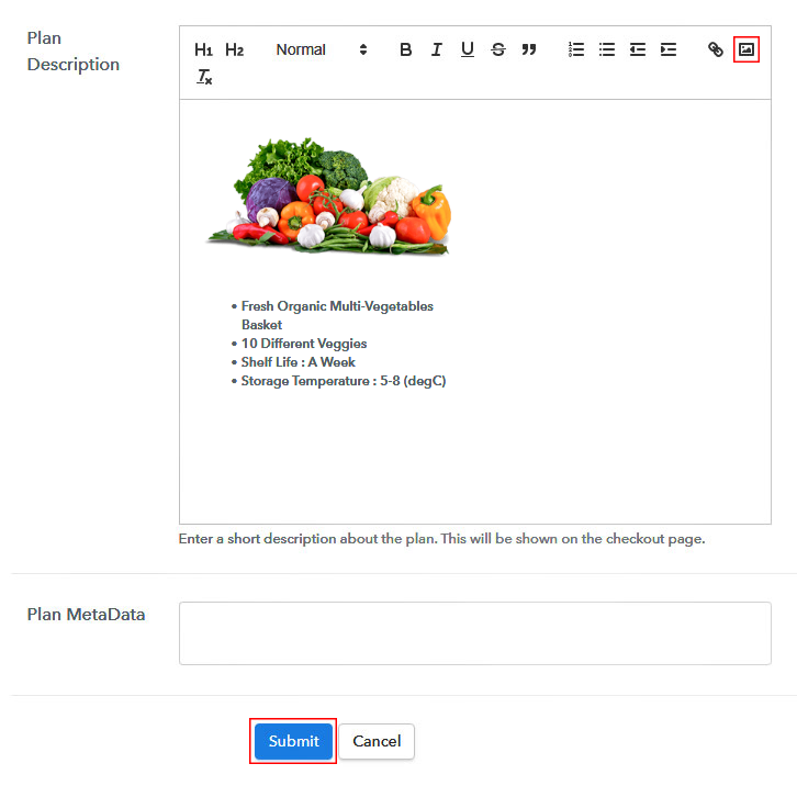 Add Image & Description to Sell Organic Vegetables Online