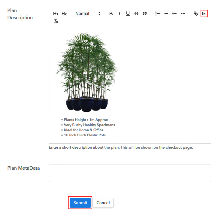 Add Image & Description to Sell Plants Online