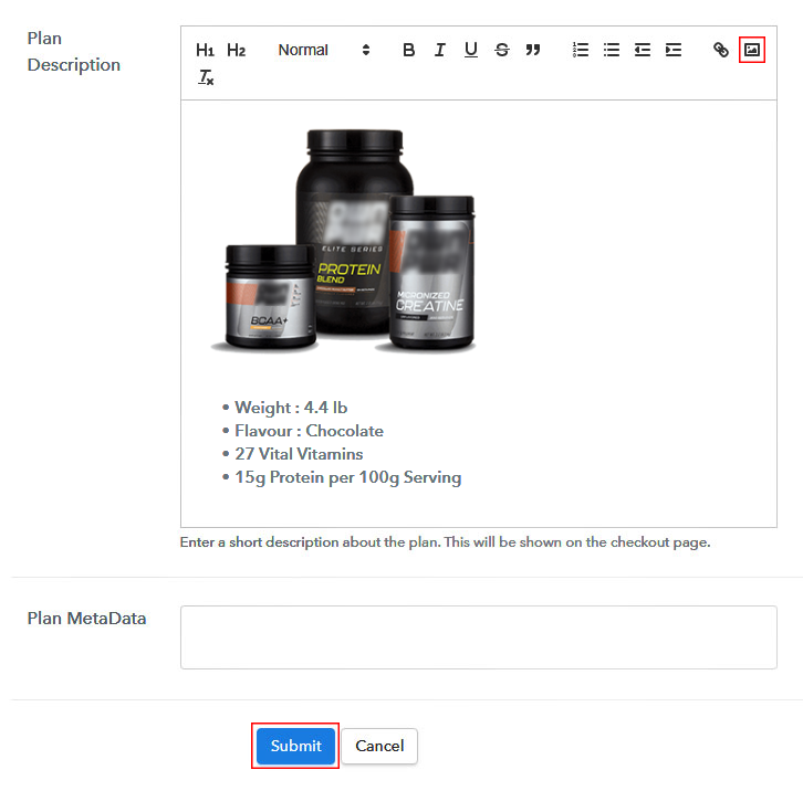Add Image & Description to Sell Supplements Online