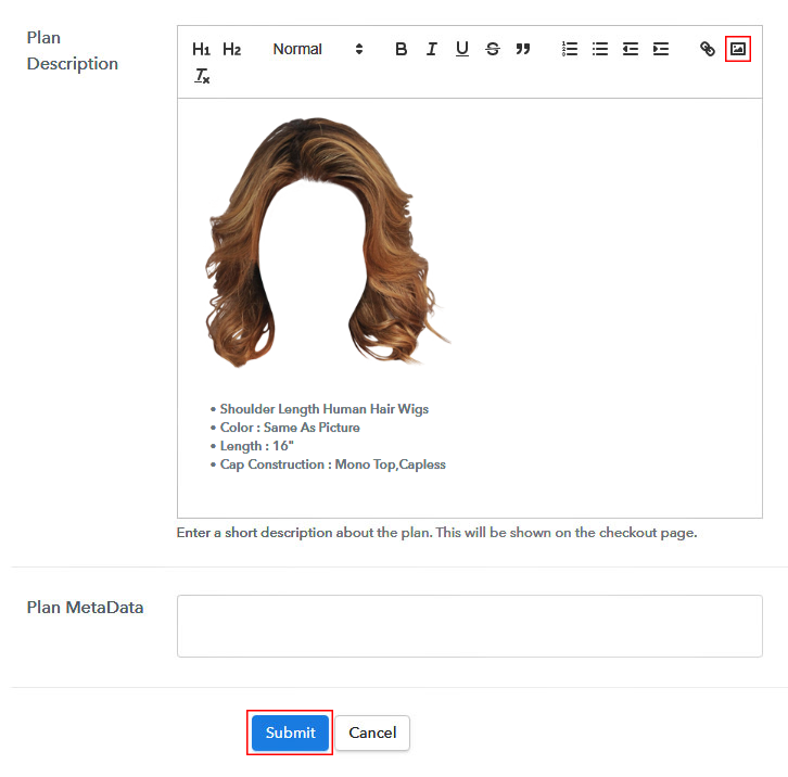 Add Image & Description to Sell Wigs Online