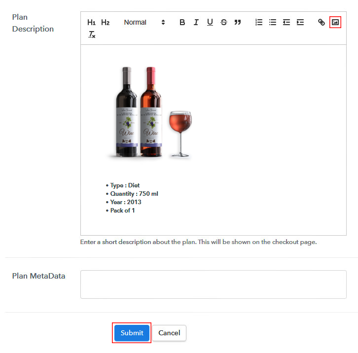 Add Image & Description to Sell Wine Online