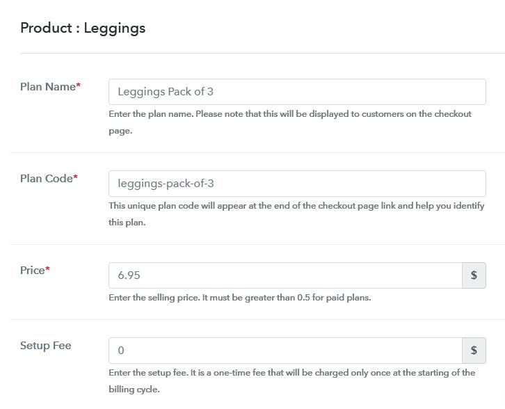 Add Plan to Sell Leggings Online