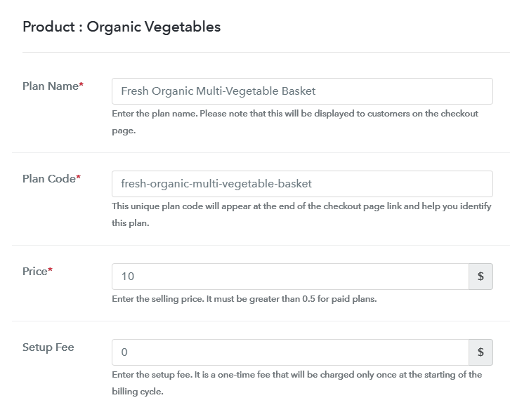 Add Plan to Sell Organic Vegetables Online