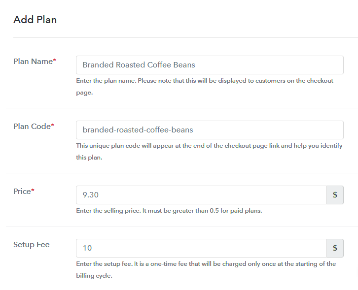 Add Plan to Sell Roasted Coffee Beans Online