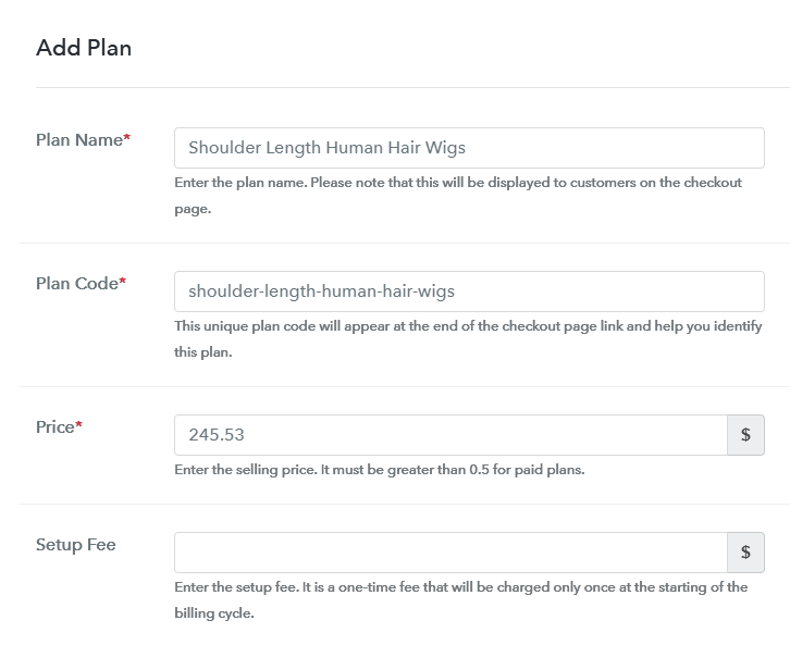 Add Plan to Sell Wigs Online
