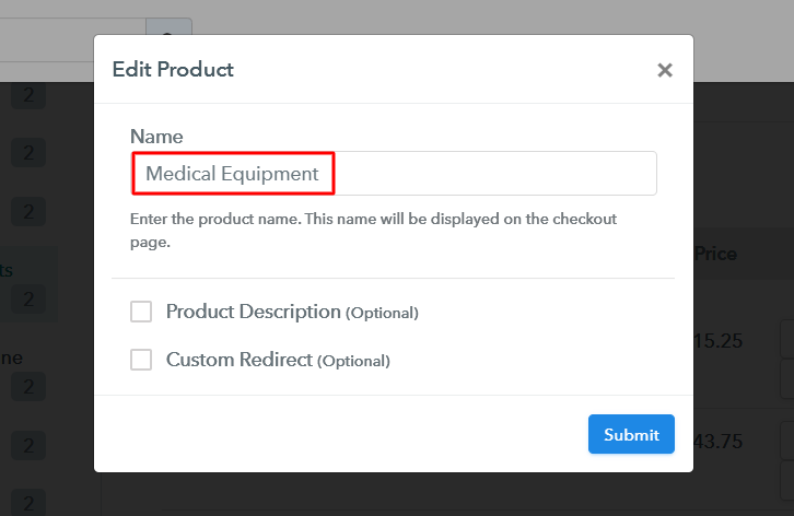 Add Product to Sell Medical Equipment Online