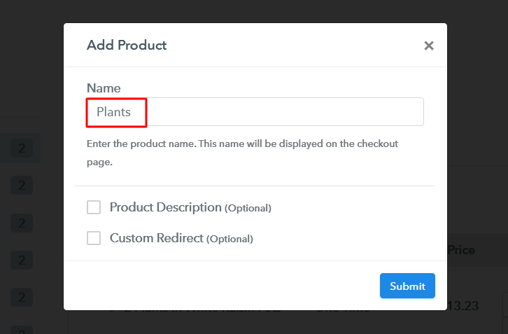 Add Product to Sell Plants Online