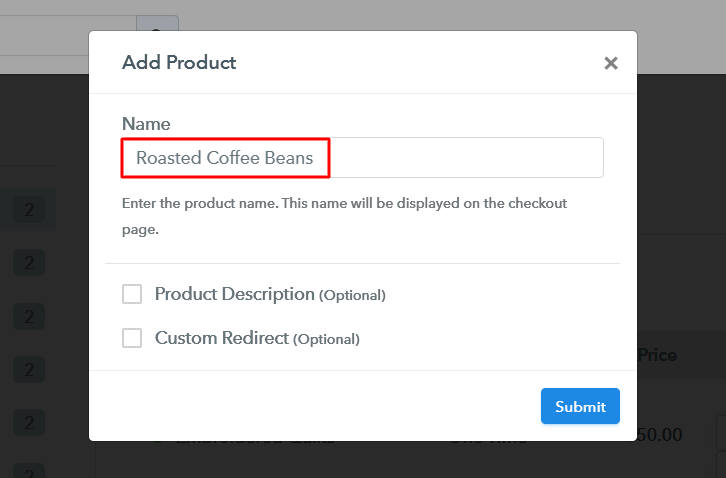 Add Product to Sell Roasted Coffee Beans Online