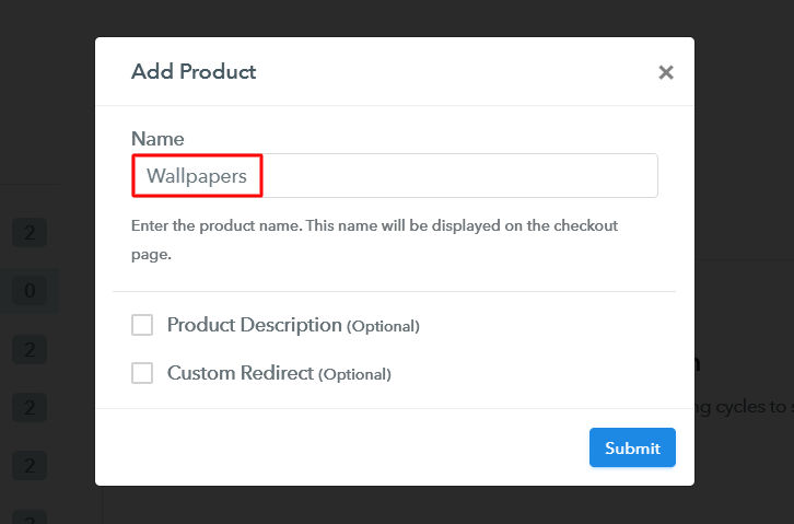 Add Product to Sell Wallpapers Online