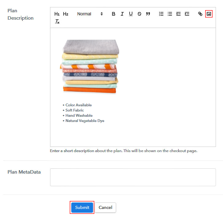Add Image & Description to Sell Fabric Online