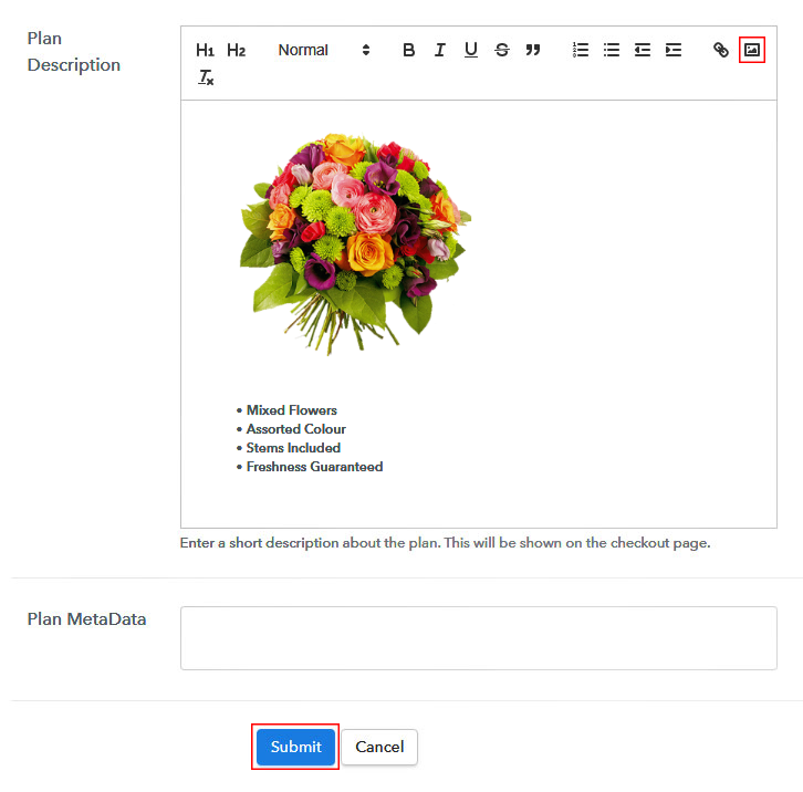Add Image & Description to Sell Flowers Online