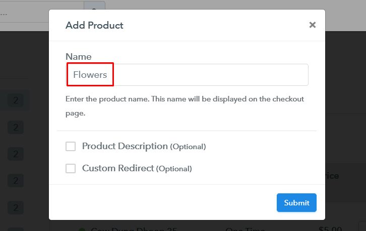 Add Product to Start Selling Flowers Online