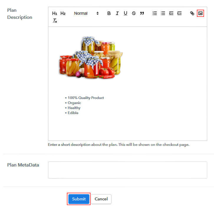 Add Image & Description to Sell Homemade Food Products Online