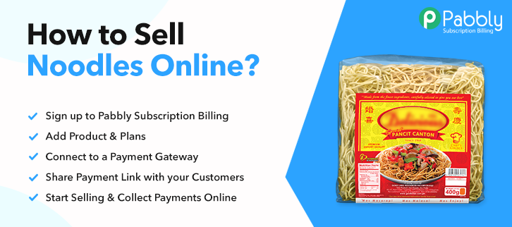How to Sell Noodles Online