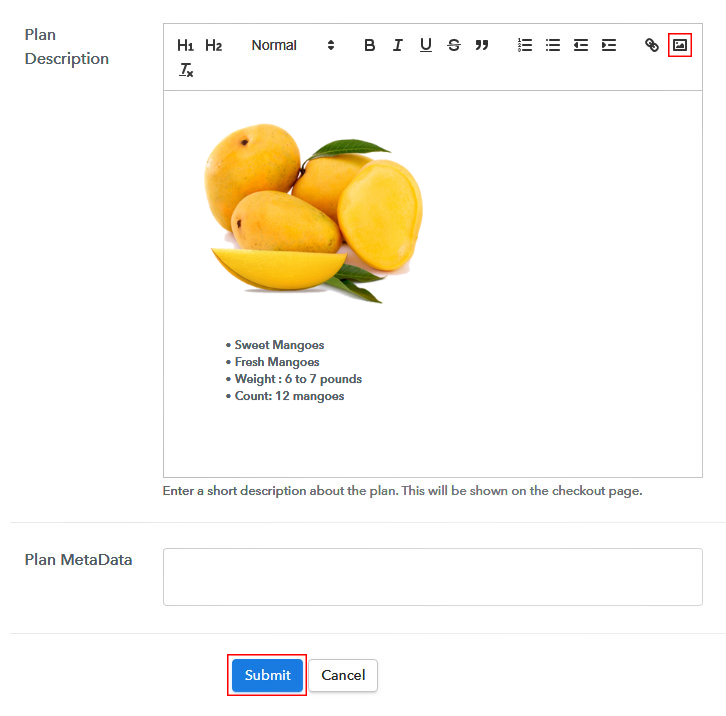 Add Image & Description to Sell Mangoes Online