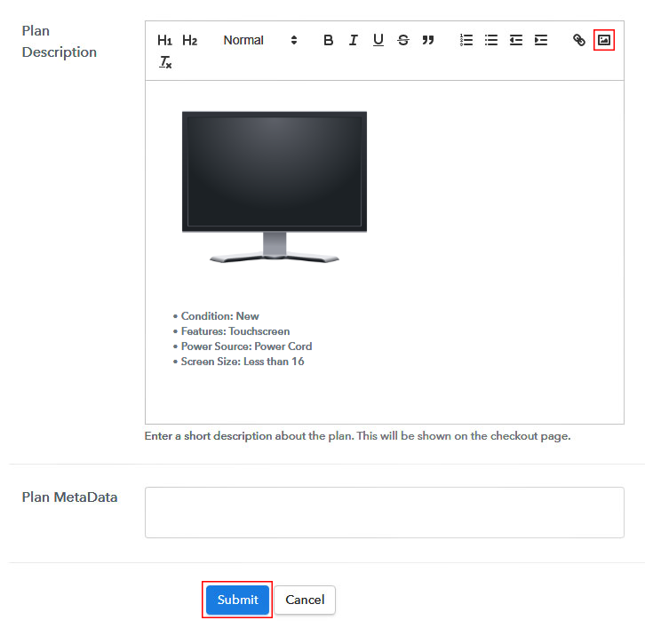 Add Image and Description to Start Selling Monitors Online