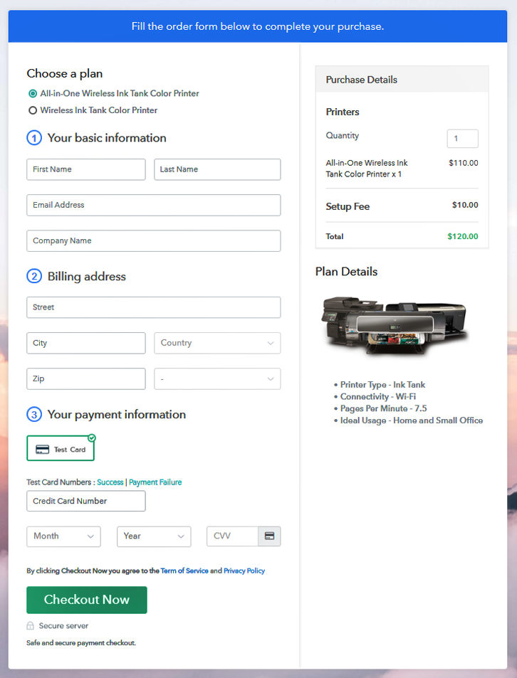 Add Multiple Products to Start Selling Printers Online