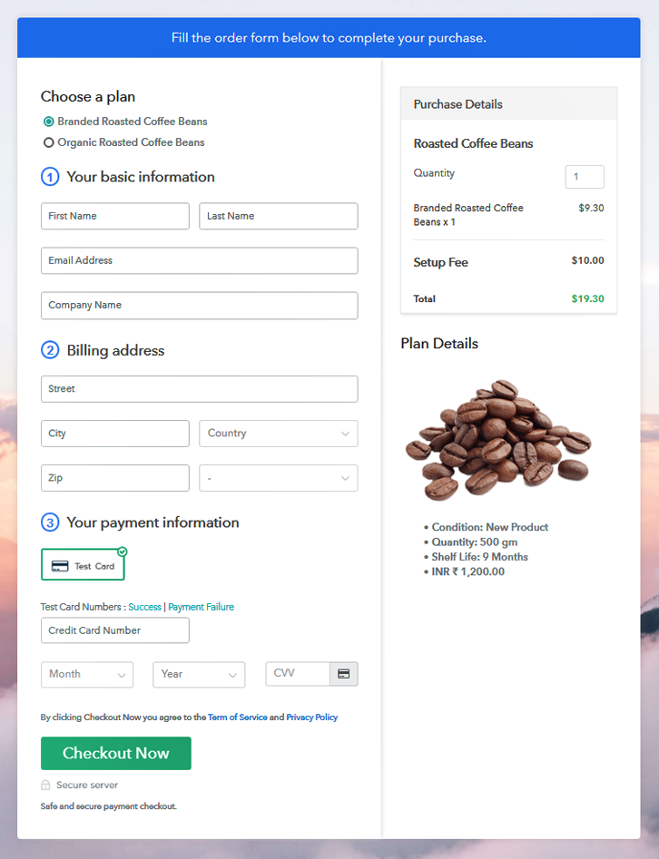 Multiplan Checkout to Sell Roasted Coffee Beans Online
