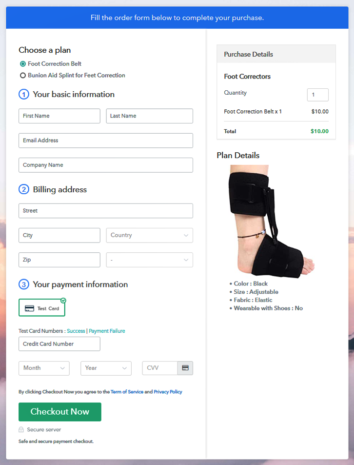 Multiplan Checkout to Sell Foot Correctors Online