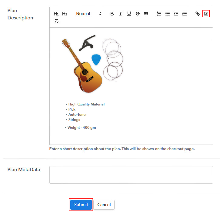 Add Image & Description to Sell Musical Instrument Parts Online