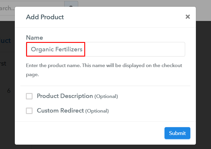 Add Product to Start Selling Organic Fertilizers Online
