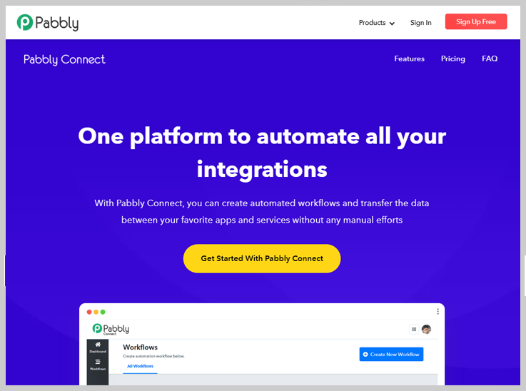 Pabbly Connect - Zapier Alternatives