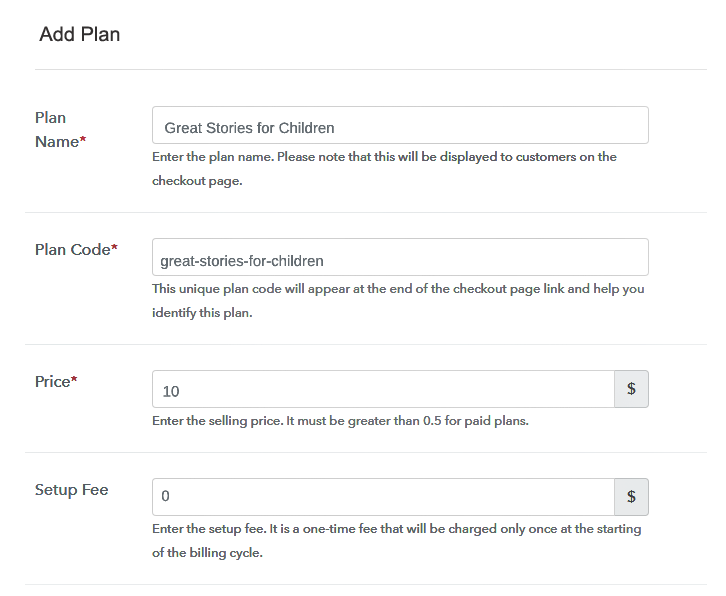 Specify the Plan & Pricing to Sell Children Books Online