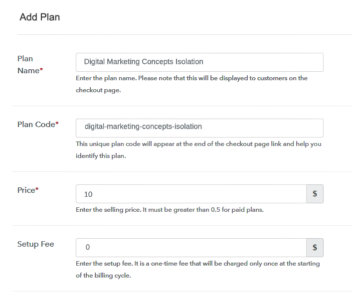 Specify the Plan & Pricing Details to Sell Graphic Designs Online