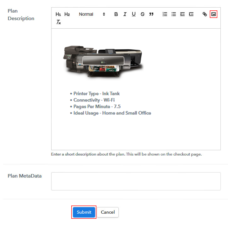 Add Image & Description to Sell Printers Online
