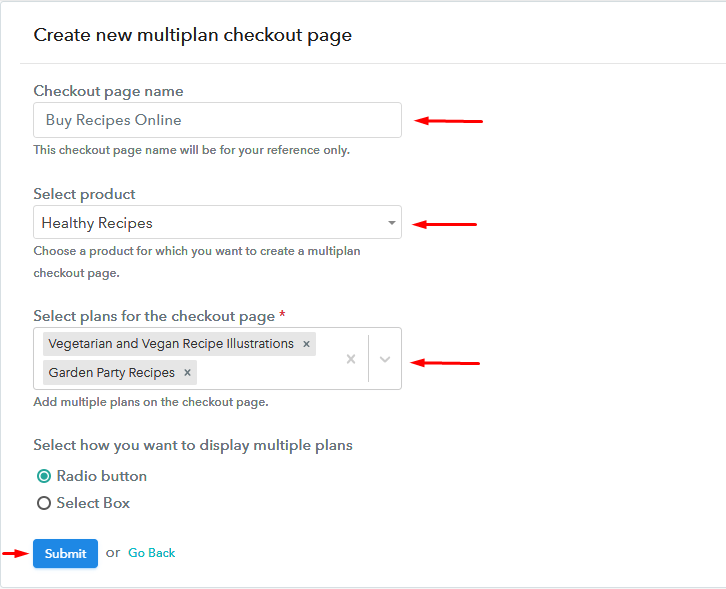 Add Multiple Products to Start Selling Recipes Online