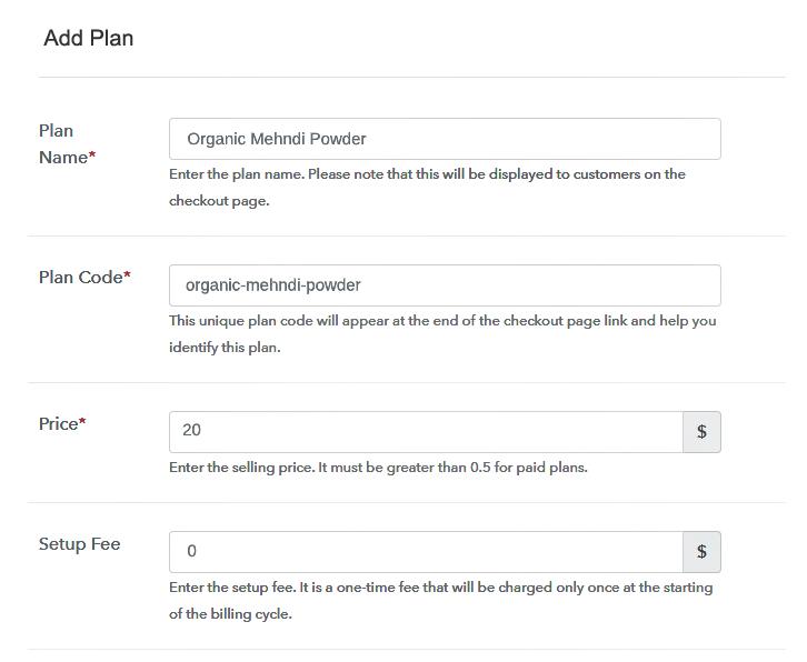 Add Plan to Sell Mehndi Online