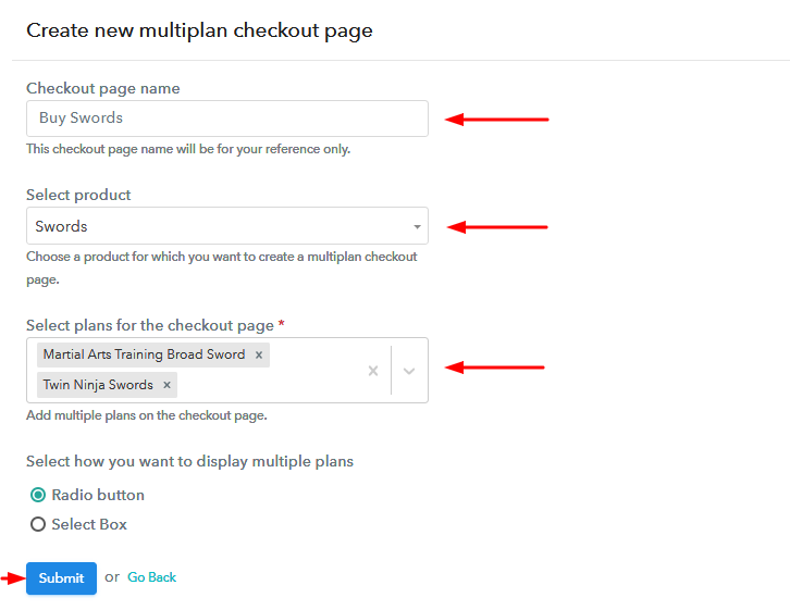 Add Plans to Sell Swords Online from Single Checkout Page
