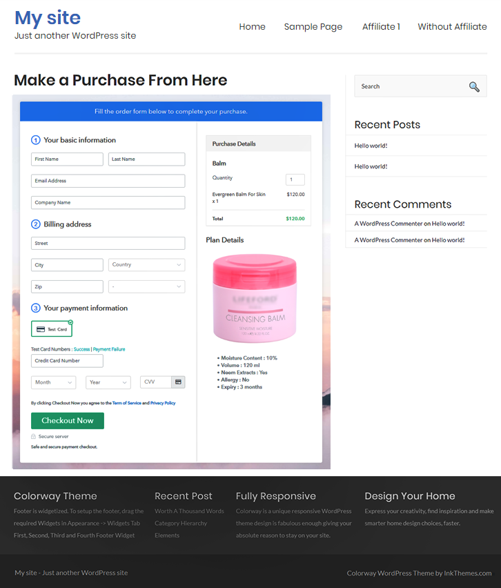 Embed in WordPress to Sell Balms Online