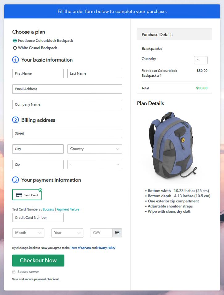 Multiplan Checkout to Start Backpacks Business Online