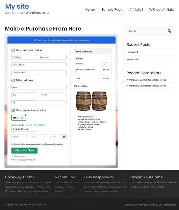 Wordpress to Sell Barrels Online