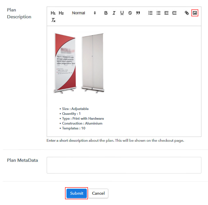 Add Description to Sell Aluminium Banner Stands Online