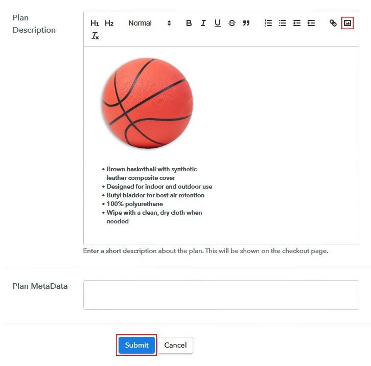 Add Image & Description to Sell Basketballs Online