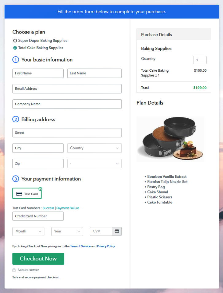 MultiPlan Checkout to Sell Baking Supplies Online