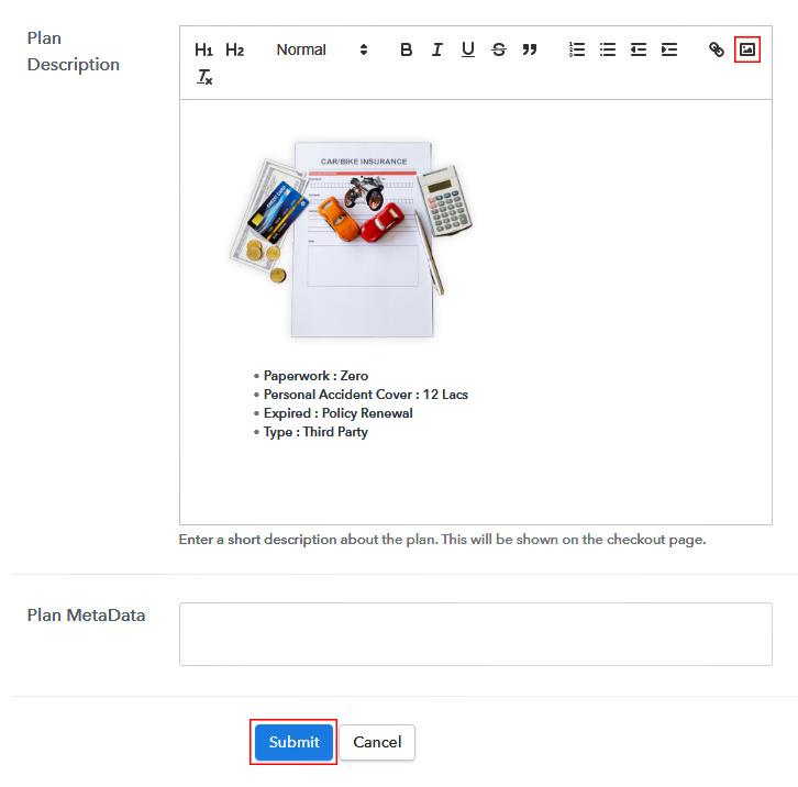 Add Description Add Plan to Sell Bike Insurance Online