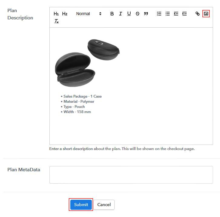 Add Image & Description of Sunglasses Cases
