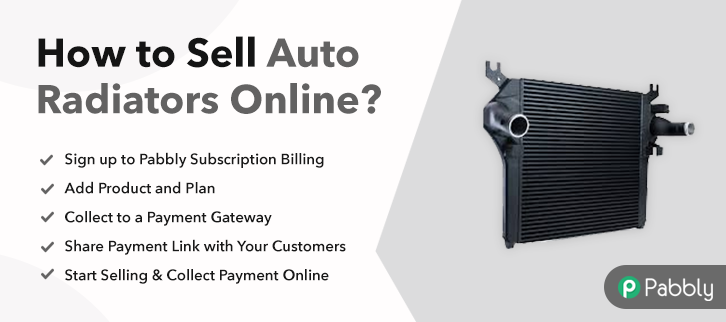 How to Sell Auto Radiators Online