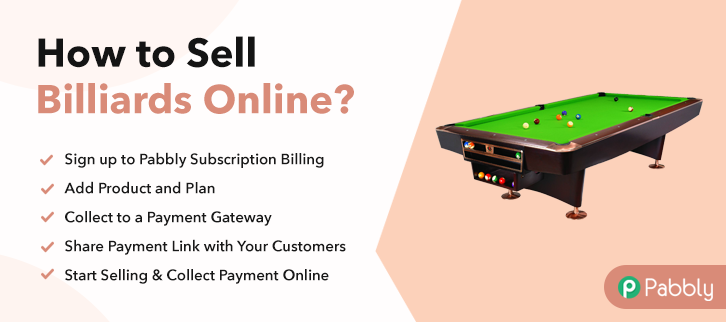How to Sell Billiards Online