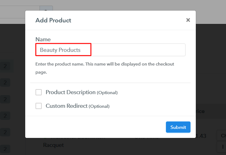 Add Product to Start Selling Beauty Products Online
