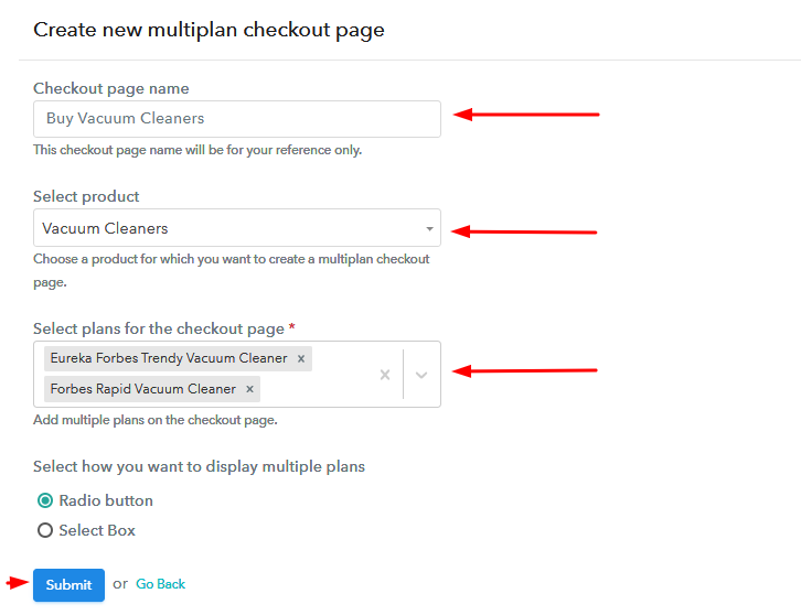 Add Plans to Sell Multiple Vacuum Cleaners from Single Checkout Page