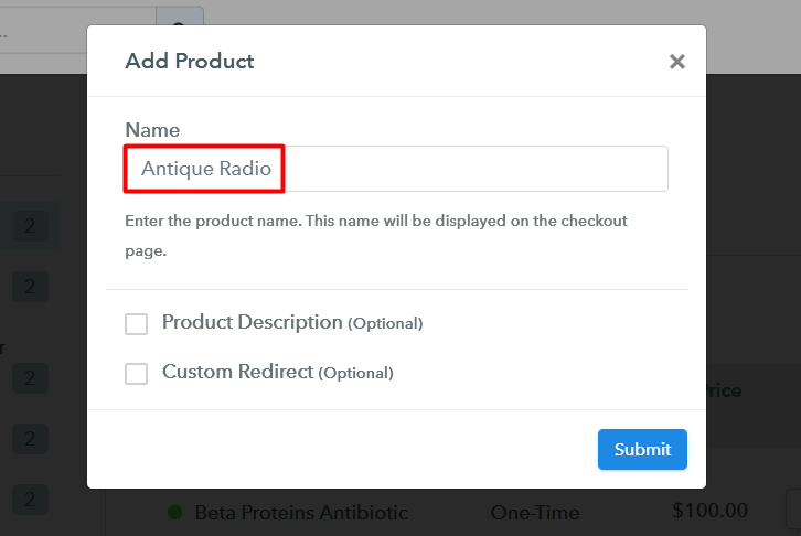 Add Product To Sell Antique Radios Online