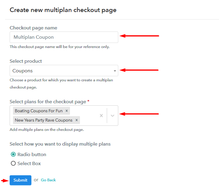 Add Multiplan To Sell Coupons Online