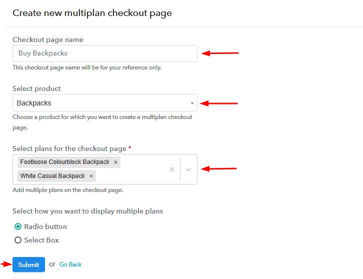Multiplan Details to Sell Backpacks Online