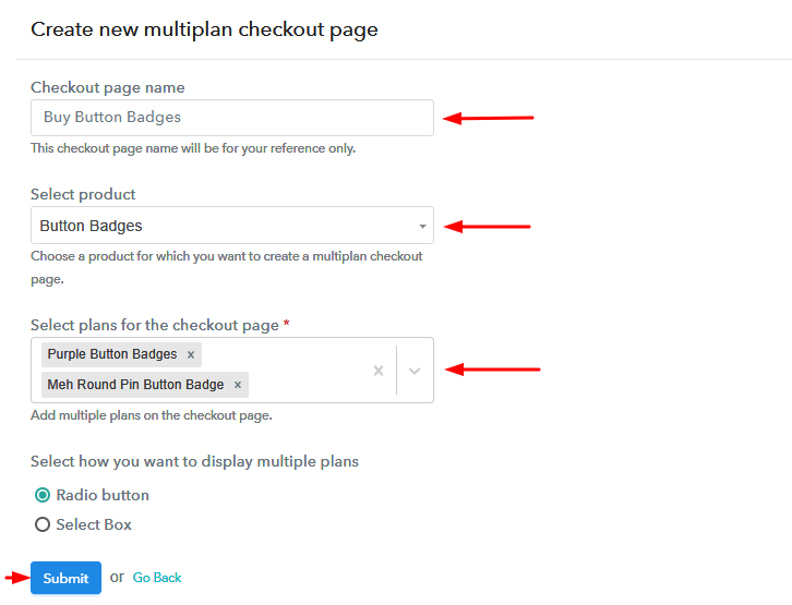 Add Plans to Sell Multiple Button Badges