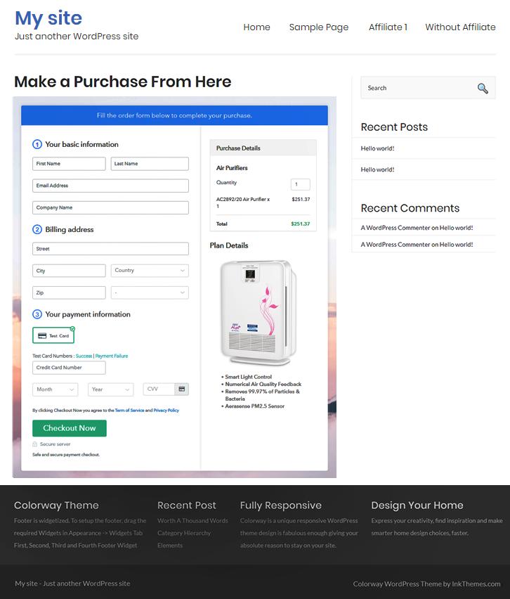 Sell Air Purifiers Online Website