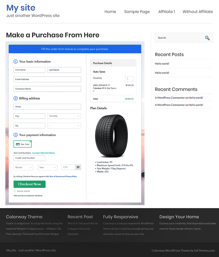 Sell Auto Tyres Online Website